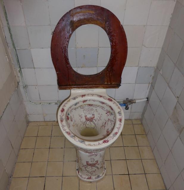 Uitzonderlijk VVDW: Bont gedecoreerde toiletpot UD29